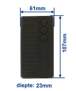 Abmessung SA434-3E